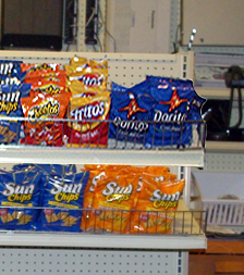 Store Potato Chip Rack