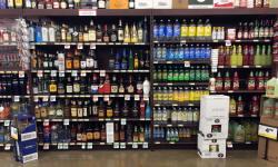 Wall Liquor Shelving